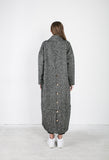 Love Like The Last Woollen Maxi Coat in Black and White