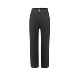 Silent Symphony High Waist Wide-Leg Pants in Black