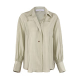 Reciprocation Lapel Shirt in Moss Green