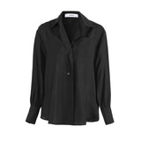 Reciprocation Lapel Shirt in Black