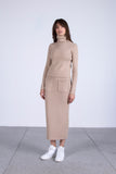 Form of Affection Knit Skirt in Latte