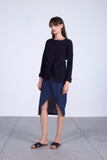 Scrapbook Scribblers Cut-Out Knit Jumper in Navy