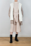 Beautiful Abasement Contrast Lapel Knit Hoodie Cardigan in Brown/Cream
