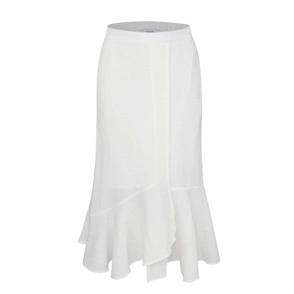 Motto In Life asymmetrical cotton skirt in Off-White