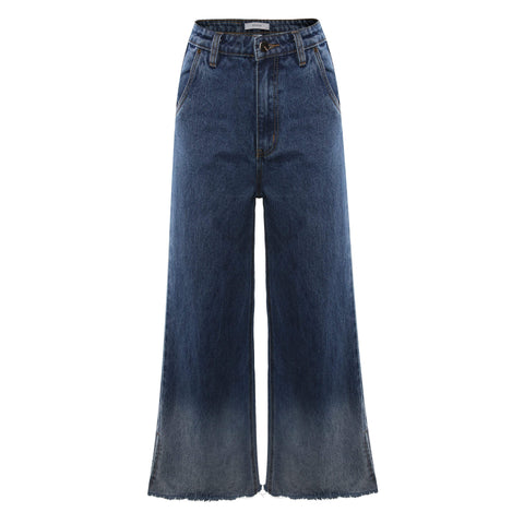 Send My Love flared denim jeans in Blue