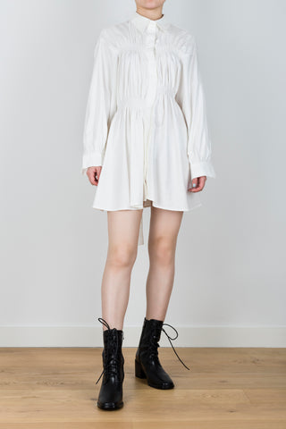 Northern Hemisphere Belted Shirt Dress in White