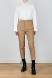 Primary Tension High-waisted Straight Leg Trousers in Brown