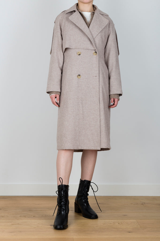 Take A Walk Relaxed Trench Coat in Brown