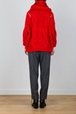 Without You Oversized Skivvy Neckline Knit Jumper in Red