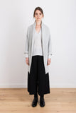 Stubborn Love Knit Ribbed Midi Cardigan in Light Grey