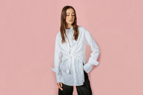 Continuous Conversations Double Layered Shirt in White