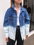 The Effect Two-toned Denim Jacket in Blue