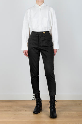 Primary Tension High-waisted Straight Leg Trousers in Black