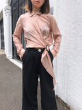 Endless Circles Tencel Buckled Shirt in Nude