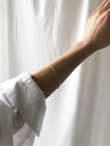 Electricity Slim Curved Edge Bangle Bracelet
