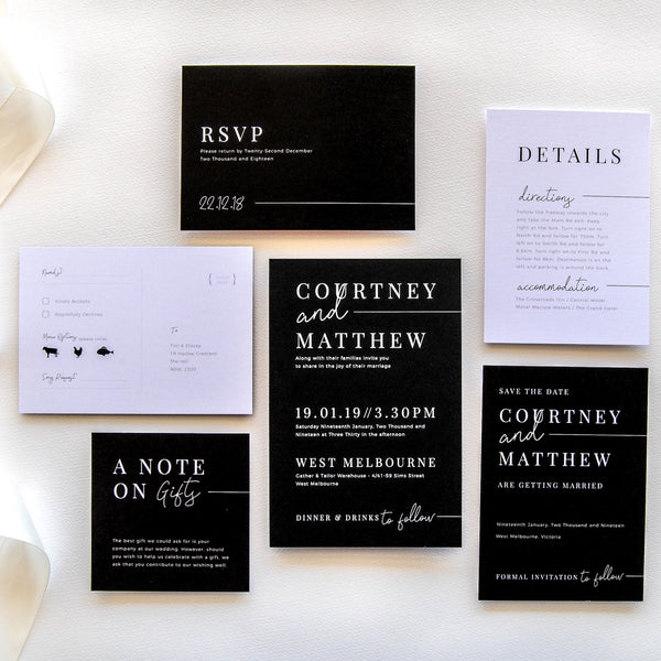 The New Black Details Card - That Paper Girl