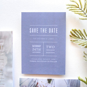 Slow Mornings Save The Date - That Paper Girl
