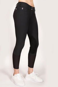 Mastermind Equestrian Lola Low-Rise Breeches, Charcoal Rose