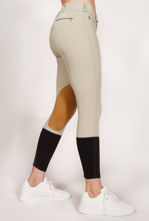 Mastermind Equestrian Lola Low-Rise Breeches, Sand