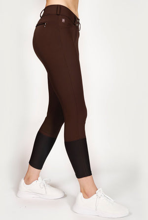 Mastermind Equestrian Mindy Mid-Rise Breeches, Chocolate
