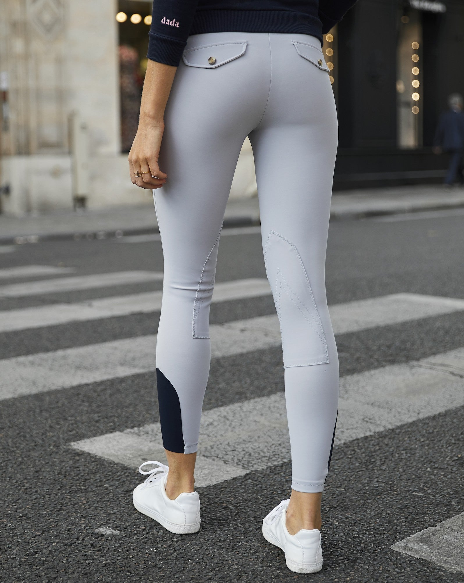 Dada Sport Giovani Breeches- Dove Grey