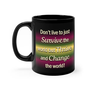Thrive Black mug 11oz