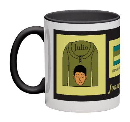 Olive/Black Men Heritage Cup© - 11 oz-Heritage Cups©-Jonnay Designs, LLC-Jonnay Designs™