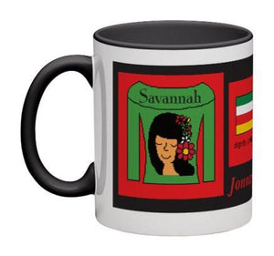 Green/Red Women Heritage Cup© - 11 oz-Heritage Cups©-Jonnay Designs, LLC-Jonnay Designs™