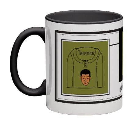 Olive/White Men Heritage Cup© - 11 oz-Heritage Cups©-Jonnay Designs®-Jonnay Designs™