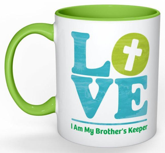 Brother's Keeper Coffee Mug - 11 oz-Coffee Mug-Jonnay Designs, LLC-Jonnay Designs™