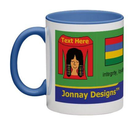 Red/Green Women Heritage Cup© - 11 oz-Heritage Cups©-Jonnay Designs, LLC-Jonnay Designs™