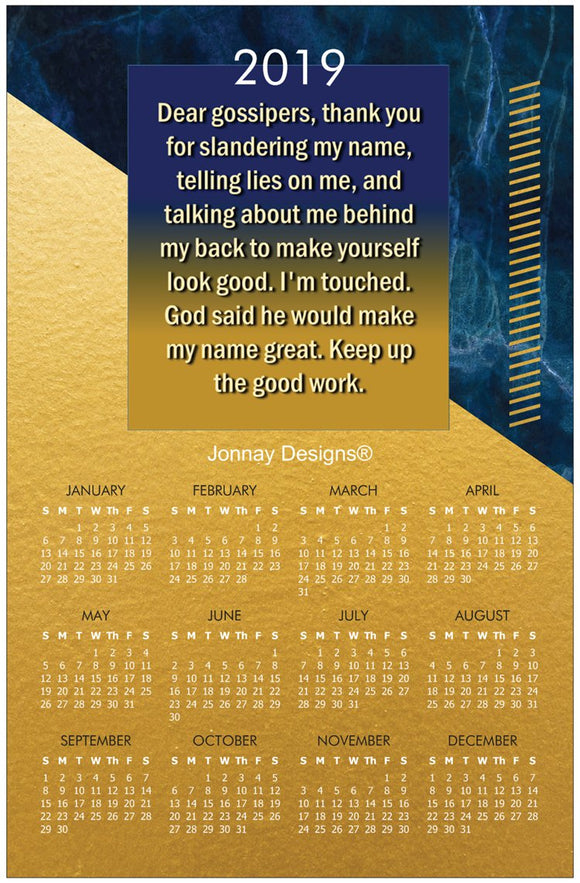 Dear Gossipers Wall Calendar