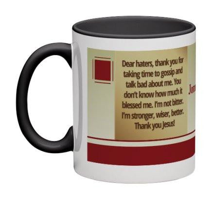 Dear Haters Coffee Mug - 11 oz-Coffee Mug-Jonnay Designs, LLC-Jonnay Designs™