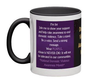Domestic Violence Awareness Coffee Mug - 11 oz-Coffee Mug-Jonnay Designs, LLC-Jonnay Designs™