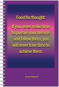 Food For Thought Notebook-Notebook-Jonnay Designs LLC-Jonnay Designs™
