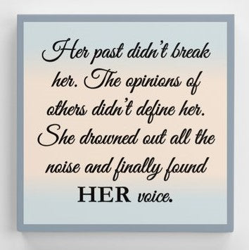 Found Her Voice Canvas Print