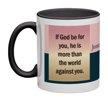 God Be For You Coffee Mug - 11 oz-Coffee Mug-Jonnay Designs™-Default Title-Jonnay Designs™