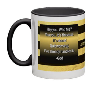 Hey You Coffee Mug - 11 oz-Coffee Mug-Jonnay Designs LLC-Black interior-Jonnay Designs™