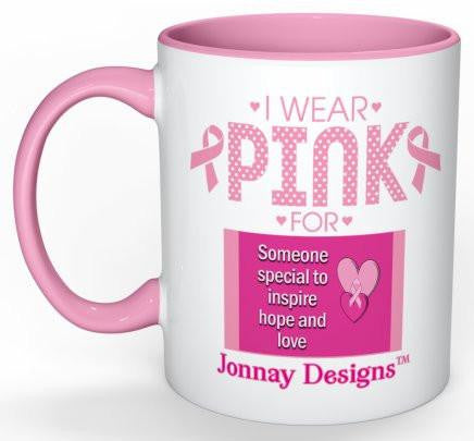 I Wear Pink Coffee Mug - 11 oz-Coffee Mug-Jonnay Designs, LLC-Jonnay Designs™