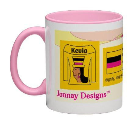 Light Yellow Women Heritage Cup© - 11 oz-Heritage Cups©-Jonnay Designs, LLC-Jonnay Designs™
