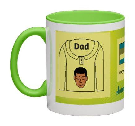 Lime Yellow Men Heritage Cup© - 11 oz-Heritage Cups©-Jonnay Designs, LLC-Jonnay Designs™