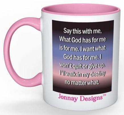 I Won't Quit Coffee Mug (Pink) - 11 oz-Coffee Mug-Jonnay Designs, LLC-Jonnay Designs™