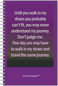 Walk In My Shoes Notebook-Notebook-Jonnay Designs, LLC-Jonnay Designs™