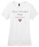 Saved Sanctified Single Glitter/Rhinestone T-Shirt-T-Shirt-Jonnay Designs LLC-S-White-Jonnay Designs™