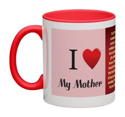 To My Mother Coffee Mug (Red) - 11 oz-Coffee Mug-Jonnay Designs, LLC-Jonnay Designs™