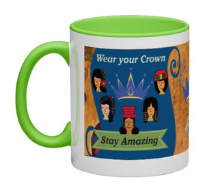 Wear Your Crown Coffee Mug (Blue) - 11 oz-Coffee Mug-Jonnay Designs LLC-Jonnay Designs™