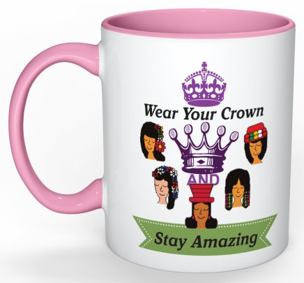 Wear Your Crown Coffee Mug (Purple) - 11 oz-Coffee Mug-Jonnay Designs LLC-Jonnay Designs™