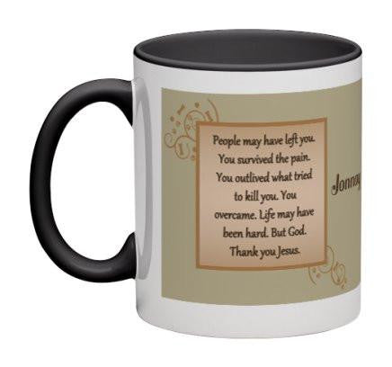 You Overcame Coffee Mug - 11 oz-Coffee Mug-Jonnay Designs, LLC-Jonnay Designs™