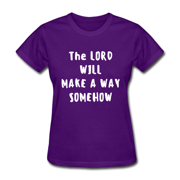 Make A Way Women's T-Shirt - purple