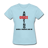 Amazing Grace Women's T-Shirt - powder blue